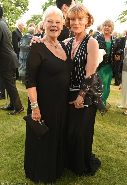 MI6 colleagues reunion: Dame Judi and Samantha both played colleagues to Pierce Brosnan's Bond