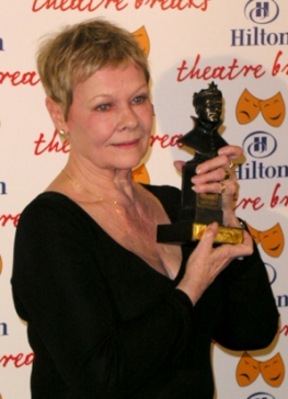 Judi with the Award