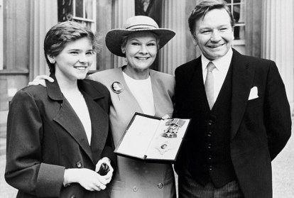 At Buckingham Palace with Finty and Michael the day Judi received her DBE, 1988
