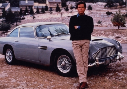 The DB5 in GOLDENEYE